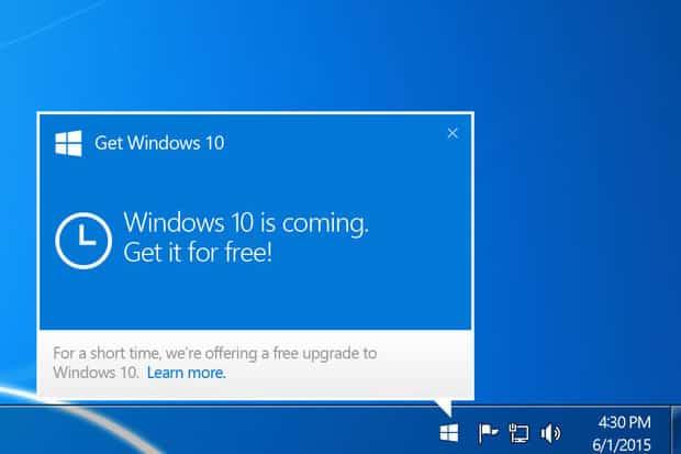 You are currently viewing Werbung für Upgrade auf Windows 10 im Browser