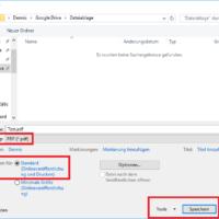Word Datei als PDF speichern