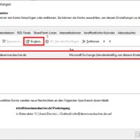 Windows 7, 8, 10: Freigegebene Postfächer in Outlook 2019 einbinden